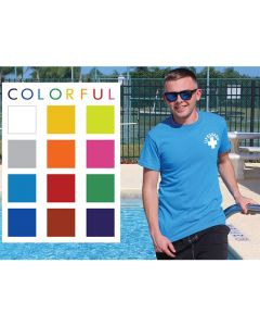 Available Colors for the Lifeguard T-Shirt (Front of Turquoise Pictured Worn at the Pool)