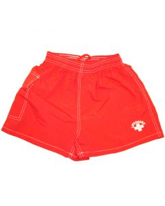 "Front of Women's ""Classic"" Board Short in Lifeguard Red"