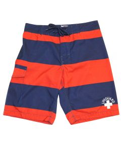 Front of the Lifeguard Striped Board Short
