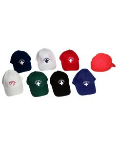 Front of Lifeguard Flex Cap with Lifeguard Logo in Black, Royal Blue, White, Green, Navy and Lifeguard Red™ Front and Back
