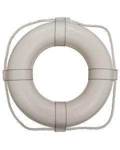 Ring Buoy in White with White Rope