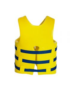 Back of USCG Adult Super•Soft® Vest in Yellow With Blue Straps