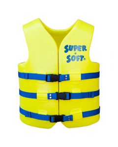 Front of USCG Adult Super•Soft® Vest in Yellow with Blue Straps