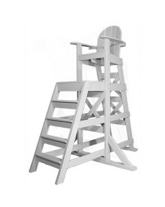 The TLG 435 EverLyfe™ Tall Lifeguard Chair with Front Ladder in White