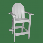Front of the Everondack® Lifeguard Chair - LG 500 in White With Green Background