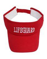 Front of the Lifeguard Xtreme Cooling Visor, Lifeguard Red (Standard Lifeguard Logo)