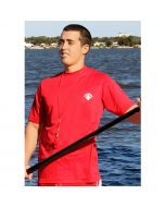 Front of the Lifeguard Rash Shirt - Short Sleeve Lifeguard Red